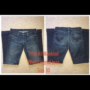 7 for all Mankind Wide-Legged Jeans